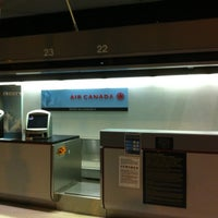 Photo taken at Air Canada Ticket Counter by Sergio M. on 7/23/2012