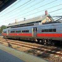 Photo taken at Metro North - Milford Train Station by Gabe B. on 8/31/2012