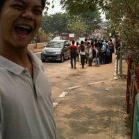 Photo taken at Halte Bis Unsri by Muhammad F. on 9/27/2011