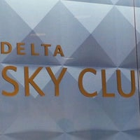 Photo taken at Delta Sky Club by Richard on 8/29/2012