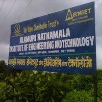 Photo taken at Alamuri Ratnamala Institute Of Engineering & Technology by Mayukh C. on 9/7/2011