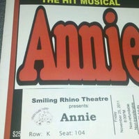 Photo taken at Smiling Rhino Theatre by Jacqueline S. on 11/26/2011