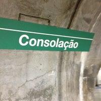 Photo taken at Estação Consolação (Metrô) by Leandro Angel S. on 8/12/2012