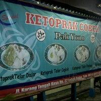 Photo taken at Ketoprak Cobek Pak Yono, Jl. Karang Tengah Raya No.37 by Grace S. on 7/17/2012