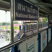 Photo taken at BTS National Stadium (W1) by NEUNG Thanajittara G. on 4/11/2012