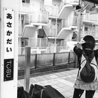 Photo taken at Asakadai Station (TJ13) by kat t. on 6/23/2012