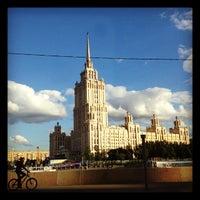 Photo taken at Краснопресненская набережная by Lyu K. on 6/4/2012
