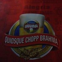 Photo taken at Quiosque Chopp Brahma by Danielle G. on 7/15/2012