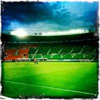 Photo taken at Ernst-Happel-Stadion by Kagan Yazici on 9/5/2011