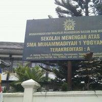 Photo taken at SMA Muhammadiyah 1 Yogyakarta by Muhibbuddin Danan Jaya on 9/20/2011