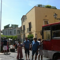 Photo taken at Piazza del Mulini by Lucio P. on 6/25/2012