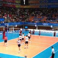 Photo taken at Complejo Panamericano de Voleibol by Fer T. on 10/28/2011