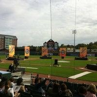 Photo taken at Northeast Delta Dental Stadium by Crystal N. on 9/18/2011