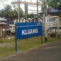 Photo taken at Stesen Keretapi Kluang by Izzuddin H. on 12/21/2011
