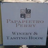 Photo taken at Papapietro Perry Winery by Karen G. on 10/8/2011