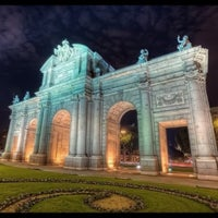 Photo taken at Alcalá Gate by Pablo R. on 9/9/2012