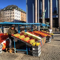 Photo taken at Hötorget by Peter N. on 3/7/2012