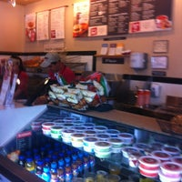 Photo taken at Bruegger's Bagels by Hadley C. on 3/13/2012