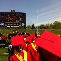 Photo taken at Kenneth P. LaValle Stadium by Ed A. on 5/18/2012