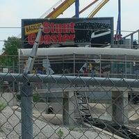 Photo taken at Backlot Stunt Coaster by Craig W. on 6/11/2012