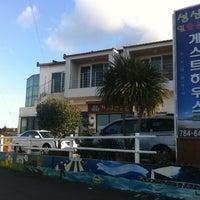 Photo taken at 성산일출봉 게스트하우스 by Along P. on 2/19/2012