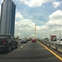 Photo taken at Rama IX Bridge by Ball P. on 8/22/2012