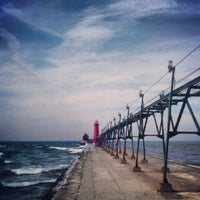 Photo taken at Grand Haven State Park by Luke B. on 9/12/2012