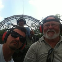 Photo taken at Jungle Erv's Airboat Tours by Alain C. on 7/21/2012