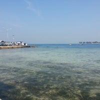 Photo taken at Pulau Pramuka by Jesha V. on 7/1/2012