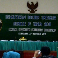 Photo taken at GSG FK UNDIP Semarang by Wijoyo H. on 10/27/2011