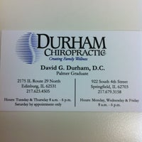 Photo taken at Durham Chiropractic by Erin M. on 1/13/2012
