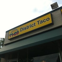 Photo taken at District Taco by Mariano B. on 8/11/2012