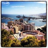 Photo taken at Hotel Parador de Málaga Gibralfaro by Iván P. on 8/31/2012