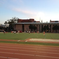Photo taken at Cromwell Field & Loker Track Stadium by Kirstin M. on 3/27/2012