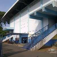 Photo taken at GOR Sang Bumi Ruwa Jurai (Saburai) by Rike I. on 7/11/2012