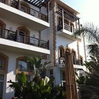 Photo taken at Ocean Vagabond Hotel by Christina E. on 12/28/2011