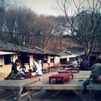 Photo taken at Korean Folk Village by jong-won j. on 3/28/2012