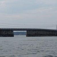 Photo taken at Cribstone Bridge by Maddie S. on 7/15/2012