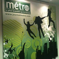 Photo taken at Journal Métro by Marie-Pier O. on 8/8/2012