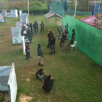 Photo taken at Tub chang, Paintball by Thanchanok B. on 5/26/2012