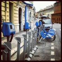 Photo taken at Vélo Bleu (Station No. 84) by Iarla B. on 5/1/2012