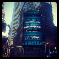 Photo taken at Nasdaq Marketsite by Scott T. on 5/18/2012