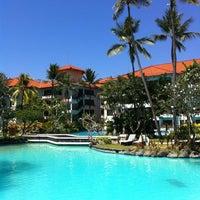 Photo taken at The Laguna, a Luxury Collection Resort & Spa, Nusa Dua, Bali by Sandeep on 8/19/2012