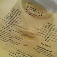 Photo taken at Tarla Mediterranean Bar and Grill by Jerae K. on 7/26/2012