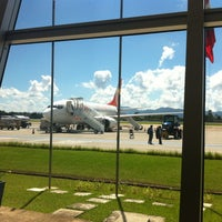 Photo taken at Aeroporto de Joinville / Lauro Carneiro de Loyola (JOI) by Erika F. on 4/3/2012