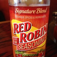 Photo taken at Red Robin Gourmet Burgers by Brian K. on 5/5/2012