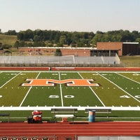 Photo taken at MHS Football Field by Nathan D. on 8/24/2012