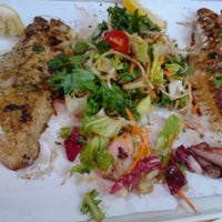 Photo taken at Budaörsi Halpiac - The Fishmonger by Daniel P. on 7/7/2012