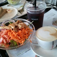 Photo taken at Aroma Espresso Bar by Karenn G. on 5/28/2012