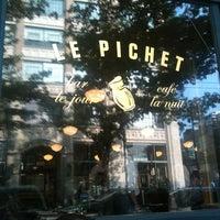 Photo taken at Le Pichet by Nick L. on 8/10/2012